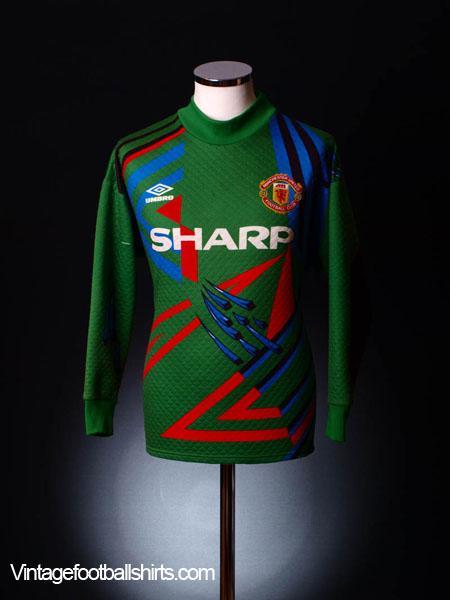 1992-93 Manchester United Goalkeeper Shirt #1 L.Boys for sale