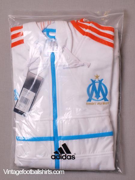 2012 13 olympique marseille adidas hooded anthem jacket. Black Bedroom Furniture Sets. Home Design Ideas