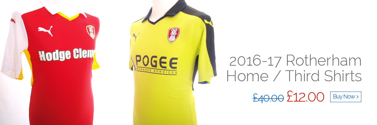 2016-17 Rotherham Home / Third Shirts - Was £40 now £12 - Buy now