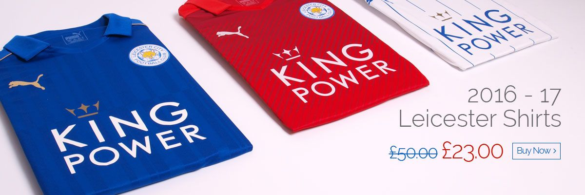 2016 - 17 Leicester Shirts - Was £50 now £23 - Buy now