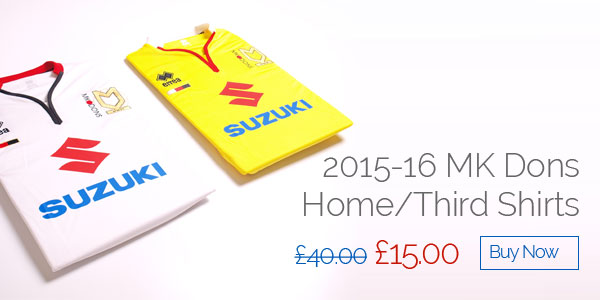 2015-16 MK Dons Home/Third Shirts - Was £40 now £15 - Buy now