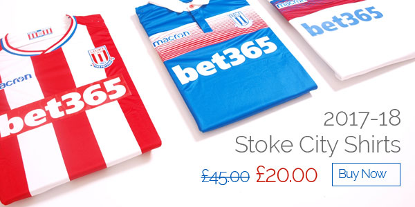2017-18 Stoke City Shirts - Was £45 now £20 - Buy now