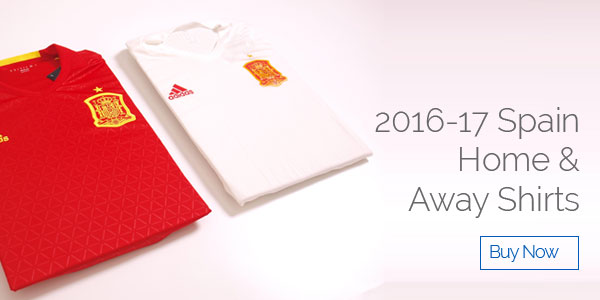 2016-17 Spain Home and Away Shirts - Buy now