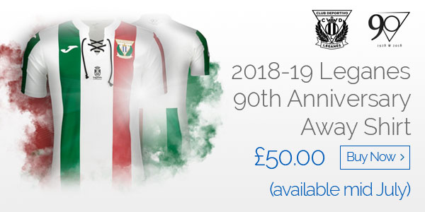2018-19 Leganes 90th Anniversary Away Shirt - £50.00 (available mid July) - Buy now