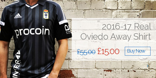 2016-17 Real Oviedo Away Shirt - Was £55.00, Now £15.00 - Buy now