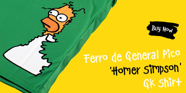 Ferro de General Pico 'Homer Simpson' GK Shirt - Buy now