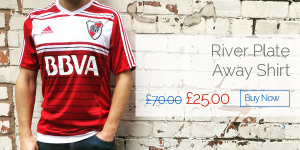River Plate Away Shirt - Was £70.00 Now £25.00 - Buy now