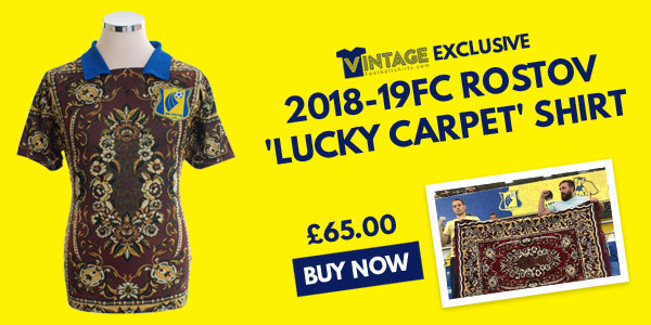 VFS Exclusive - 2018-19 FC Rostov 'Lucky Carpet' Shirt - £65.00 - Buy now