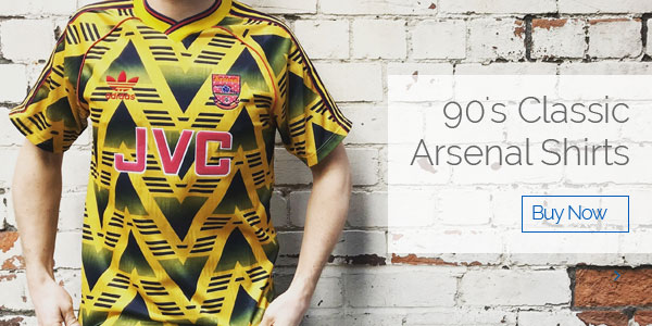 90's Classic Arsenal Shirts - Buy now