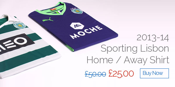 2013-14 Sporting Lisbon Home / Away Shirt - Was £50 now £25 - Buy now