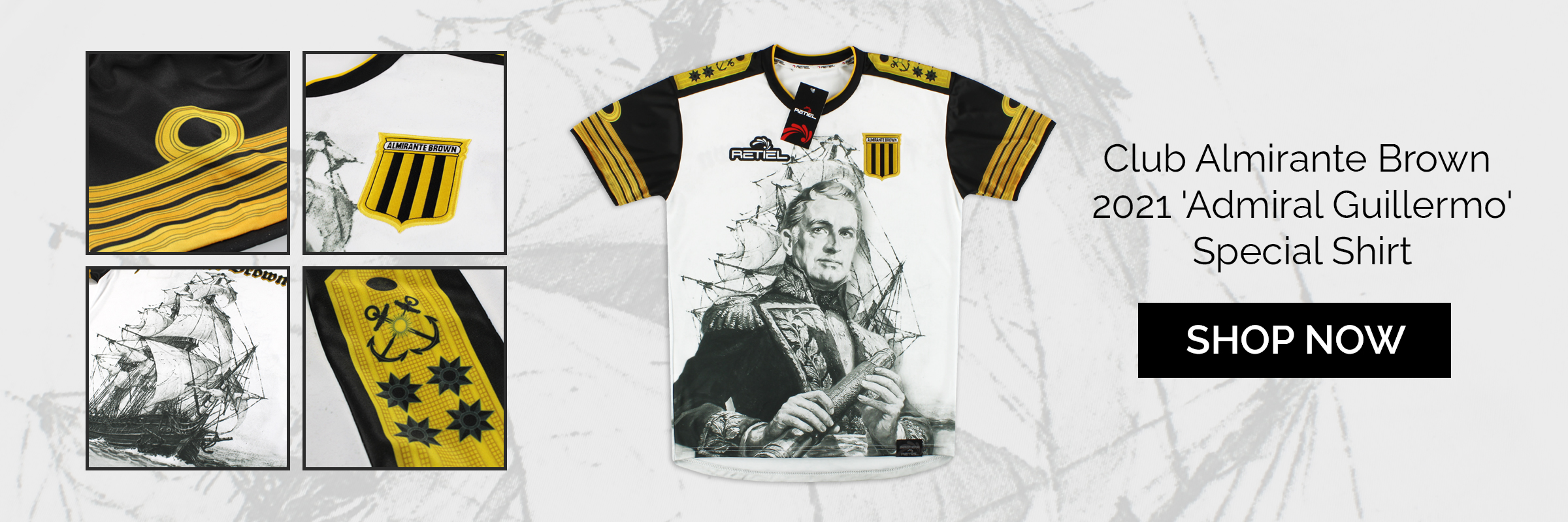 2021 Club Almirante Brown 'Admiral Guillermo' Special Shirt