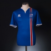 2016-17 Iceland Home Errea Football Shirt