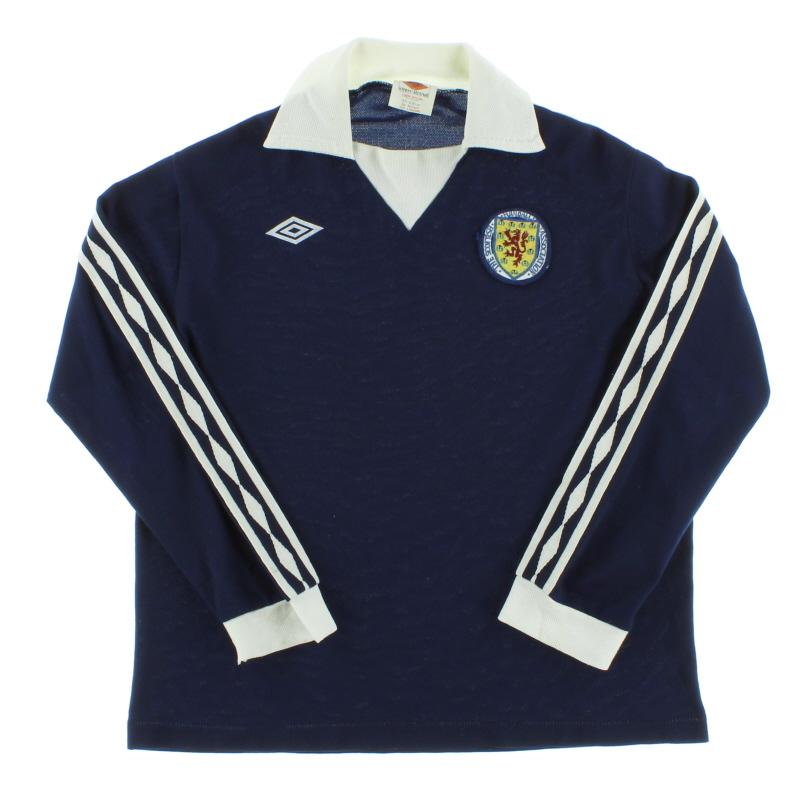 1976-79 Scotland Home Shirt L/S M
