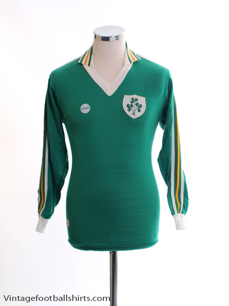 1978-83 Ireland Match Issue Home Shirt #17 L/S M