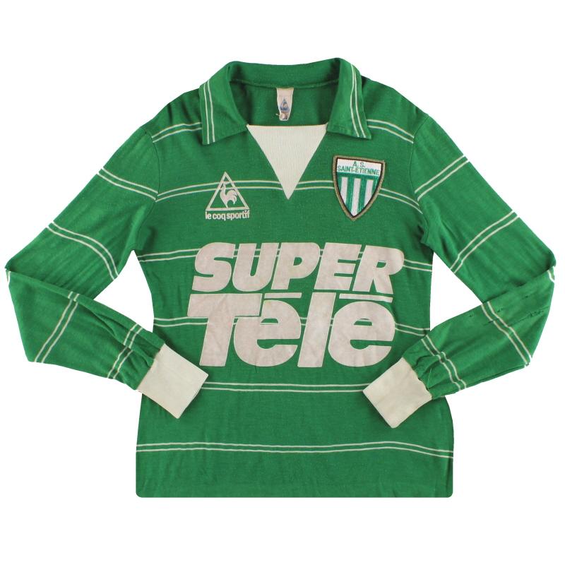 1980-81 Saint Etienne Le Coq Sportif Home Shirt L/S S