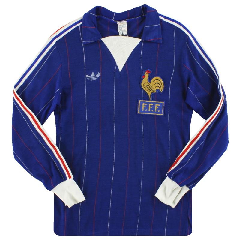 1980-82 France adidas Home Shirt L/S Y