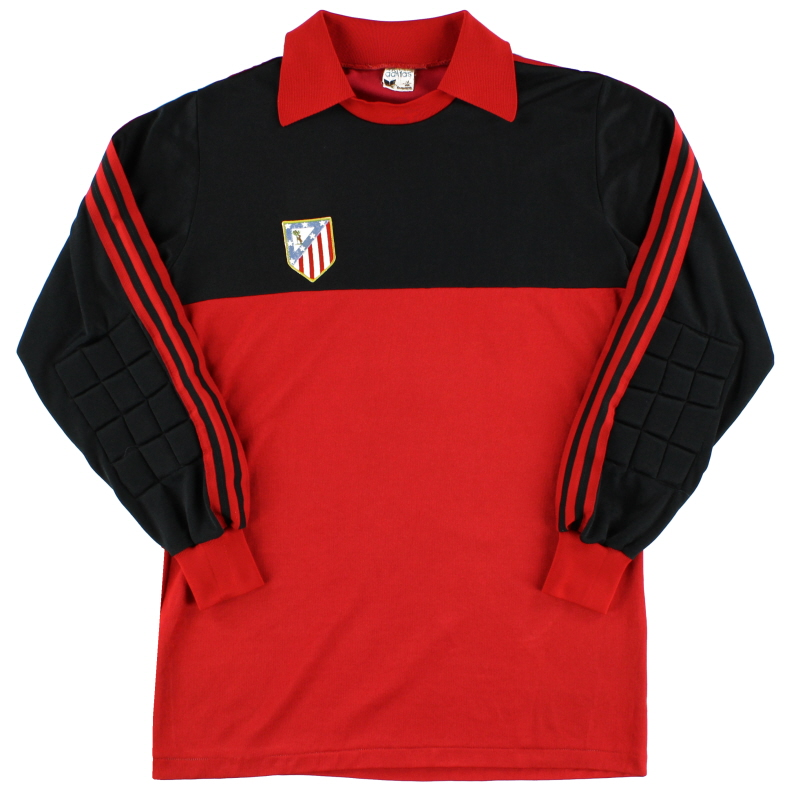 1981-83 Atletico Madrid Match Issue Goalkeeper Shirt #1 L