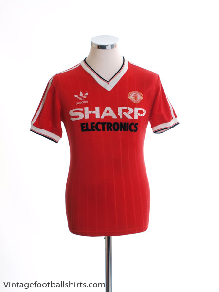 1982-83 Manchester United adidas Home Shirt S
