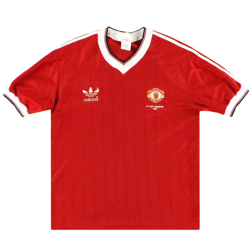 1982-84 Manchester United adidas 'FA Cup Winners' Home Shirt M