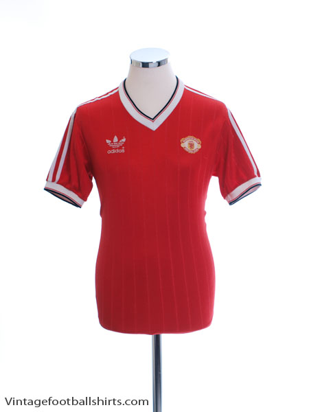 1982-84 Manchester United Home Shirt L