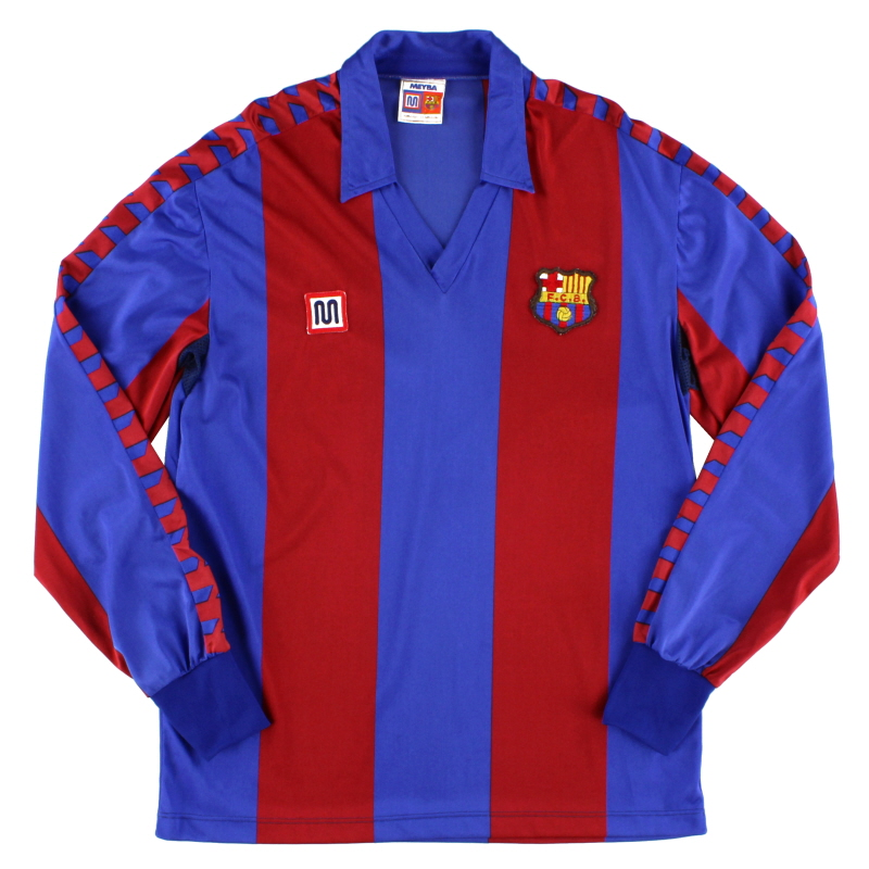 1982-89 Barcelona Home Shirt L/S *Mint* S