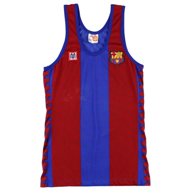 1982-89 Barcelona Meyba Home Vest S