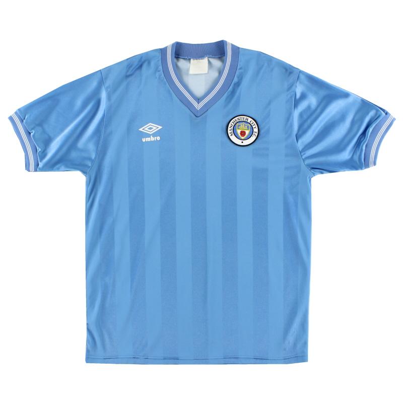 1983-85 Manchester City Home Shirt M