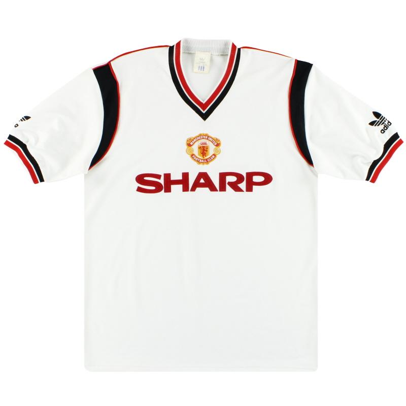 1984-86 Manchester United adidas Away Shirt L