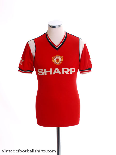 1984-86 Manchester United Home Shirt S