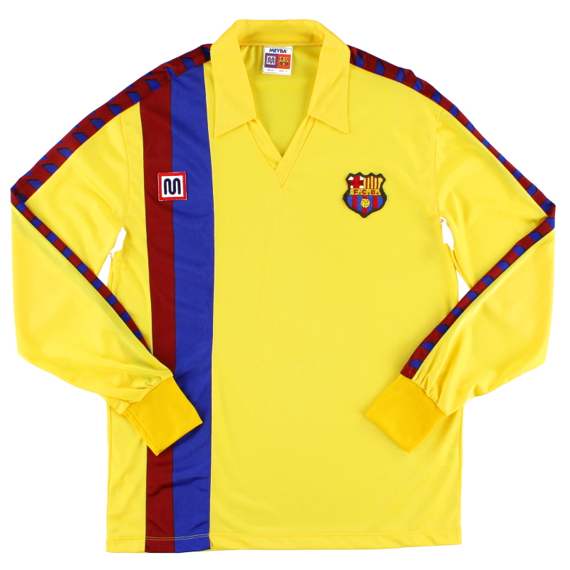 1984-89 Barcelona Away Shirt L/S *As New* L