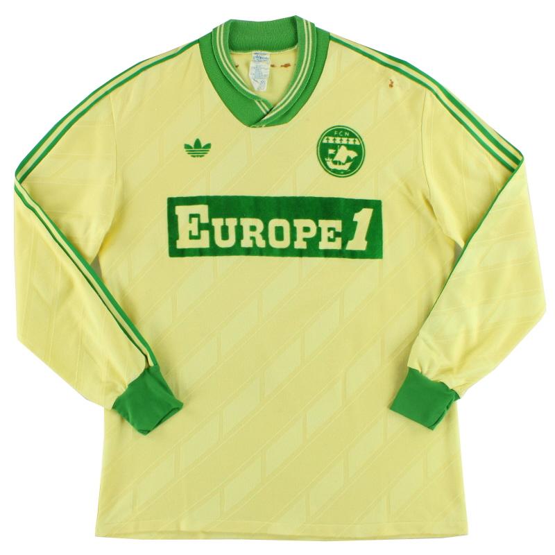 1985-87 Nantes adidas Home Shirt L/S M