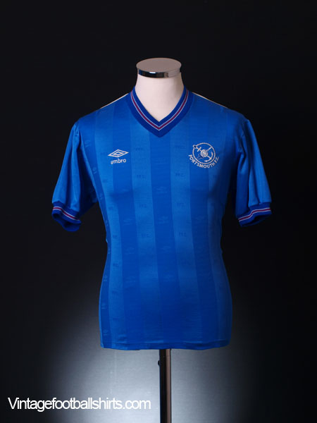1985-87 Portsmouth Match Issue Home Shirt #3 M