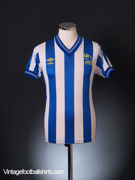 1985-87  Sheffield Wednesday Home Shirt S