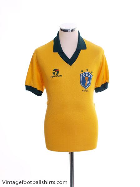 1985-88 Brazil Home Shirt XL