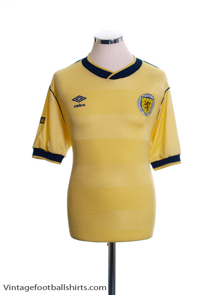 1985-88 Scotland Away Shirt L