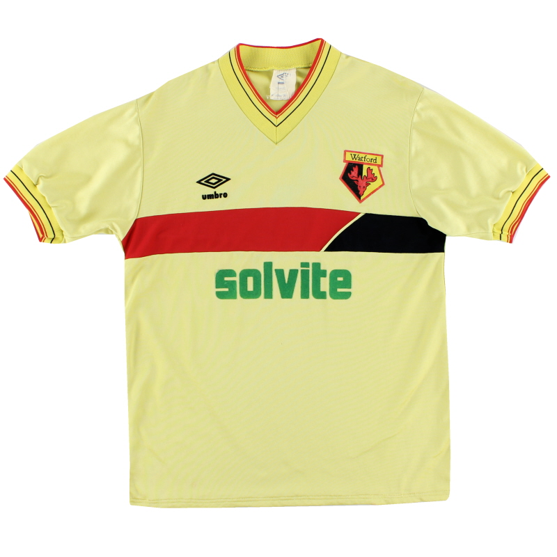1985-88 Watford Umbro Home Shirt M
