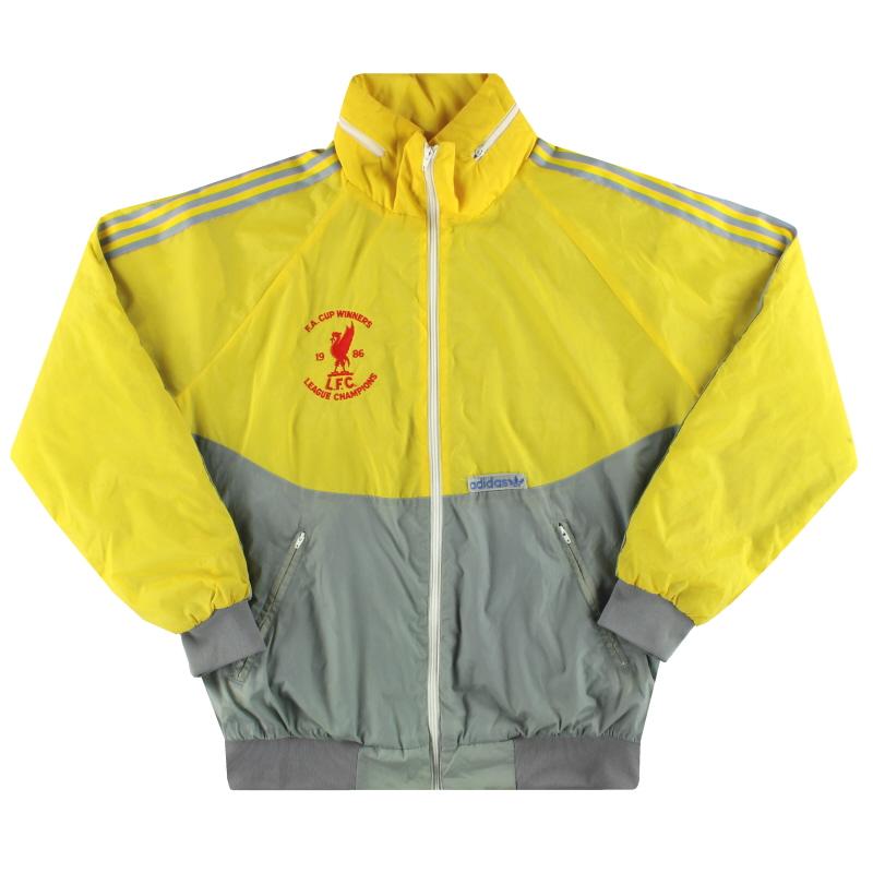 1986-87 Liverpool adidas 'Double Winners' Rain Coat L