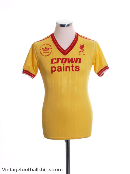 1986-87 Liverpool 'Double Winners' Third Shirt S