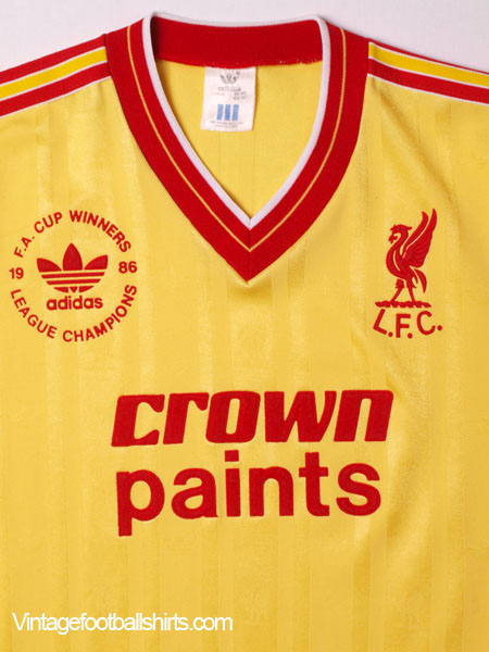 buy cheap a1091 a87ee 1986-87 Liverpool 'League and FA Cup Winners' Third Shirt L ...