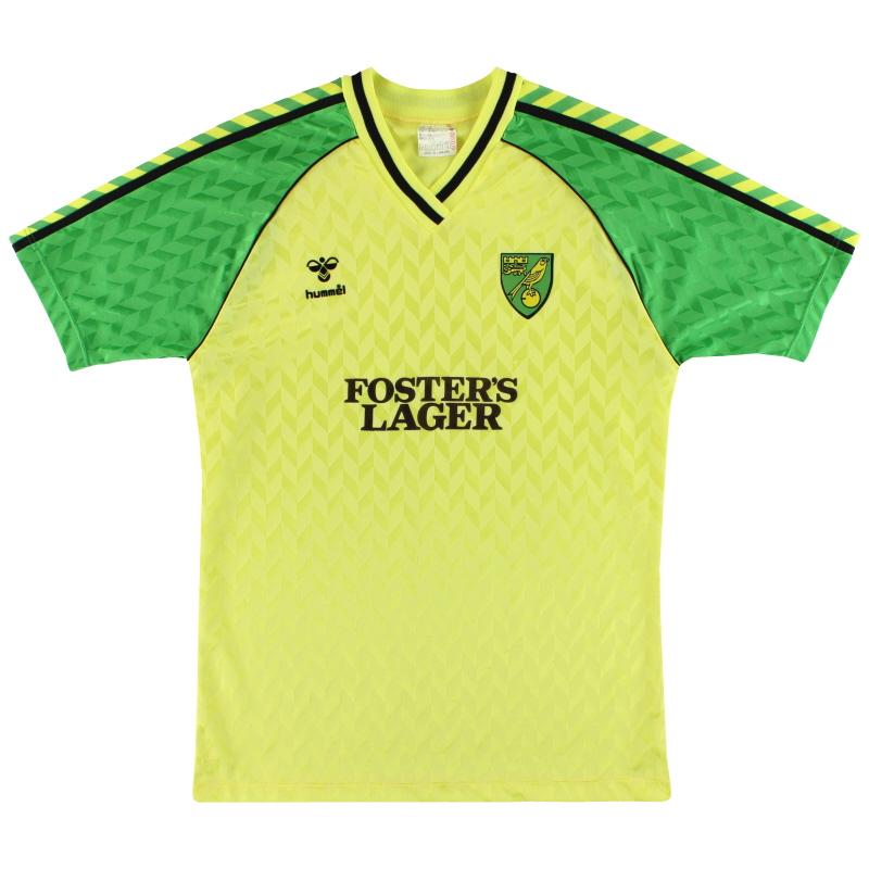 1986-87 Norwich Hummel Home Shirt M