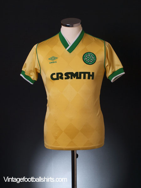 online store 1e19f 25d2f 1986-88 Celtic Away Shirt S for sale