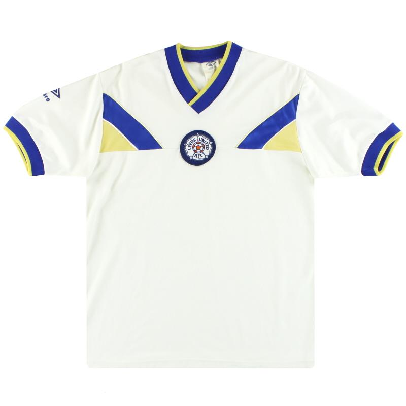 1986-88 Leeds Umbro Home Shirt M