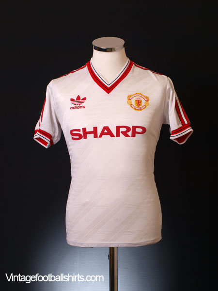1986-88 Manchester United Away Shirt S.Boys
