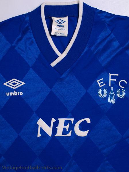 1986 89 Everton Home Shirt L