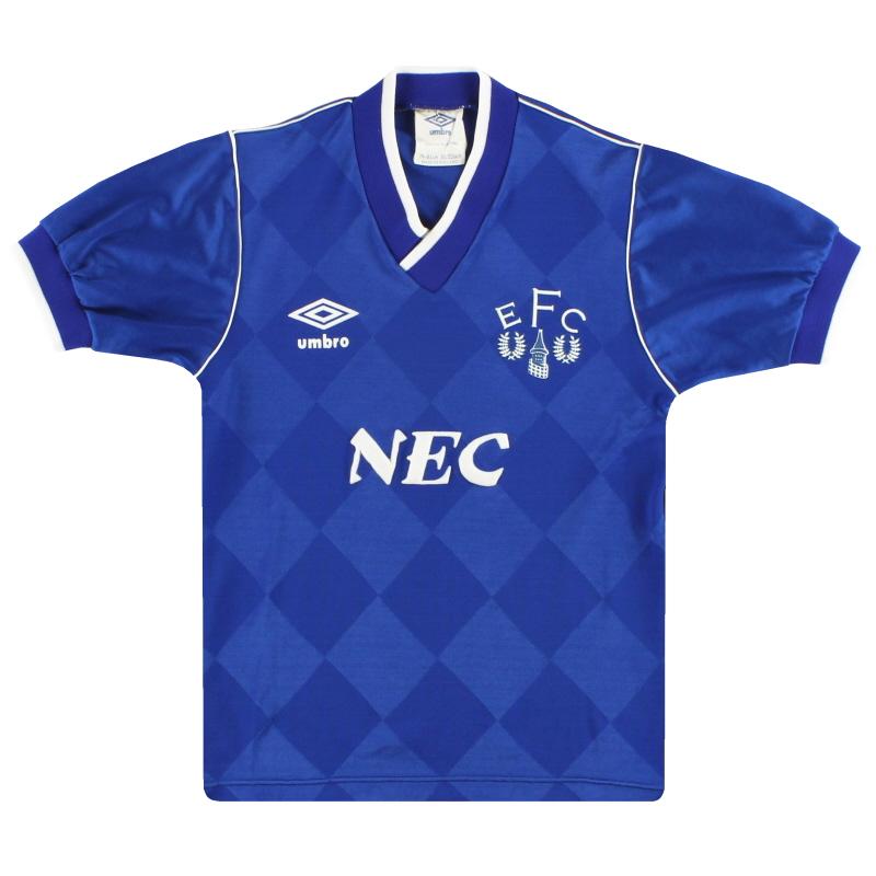 1986-89 Everton Umbro Home Shirt L.Boys