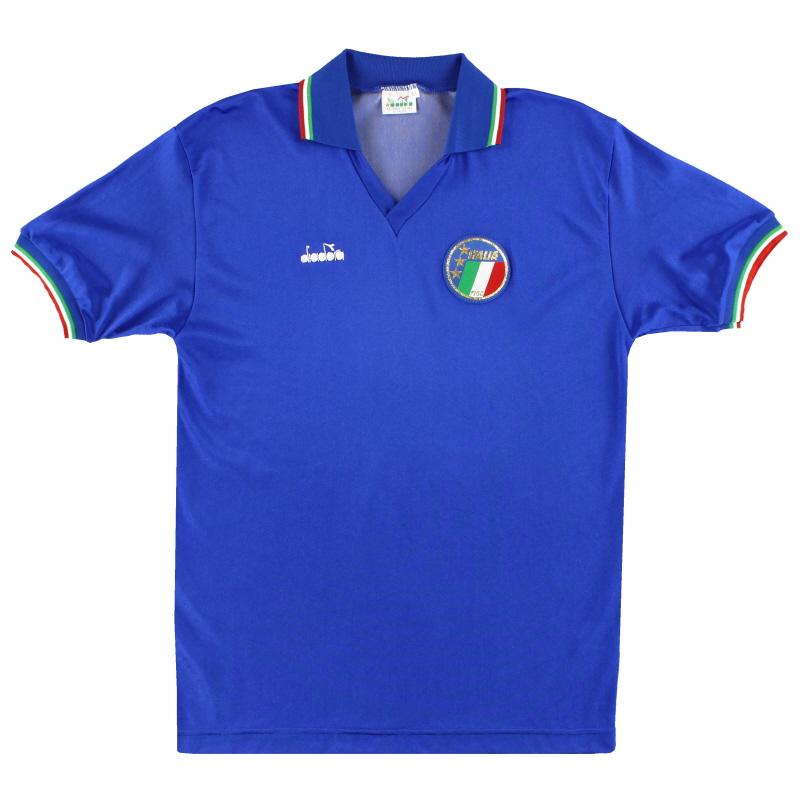 1986-90 Italy Diadora Home Shirt M - 92291