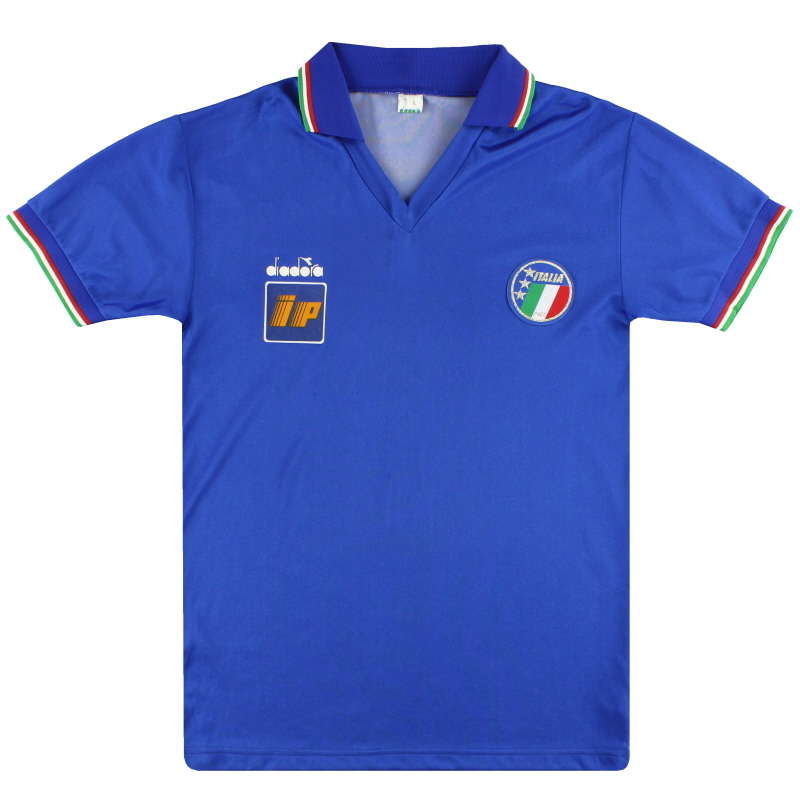1986-90 Italy Diadora Player Issue Training Shirt *As New* L