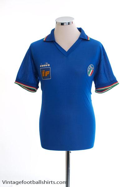1986-90 Italy Diadora Player Issue Home Shirt Y