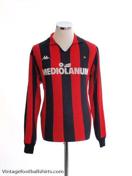 1987-88 AC Milan Home Shirt L/S XL