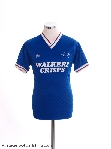 1987-88 Leicester City Home Shirt M
